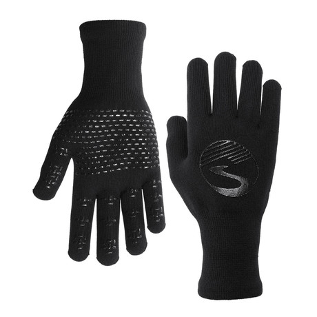 Knit Waterproof Gloves // Black (S)