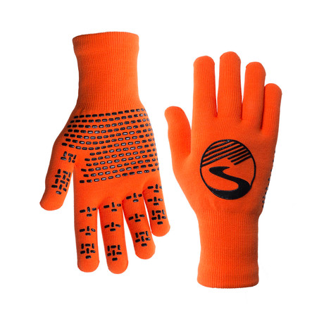 Knit Waterproof Gloves // Safety Orange (S)