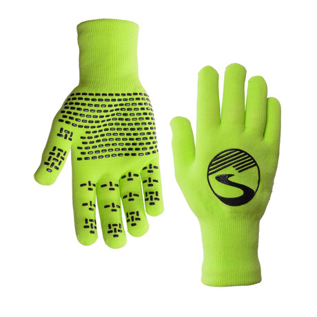 Knit Waterproof Gloves // Neon Green (S)