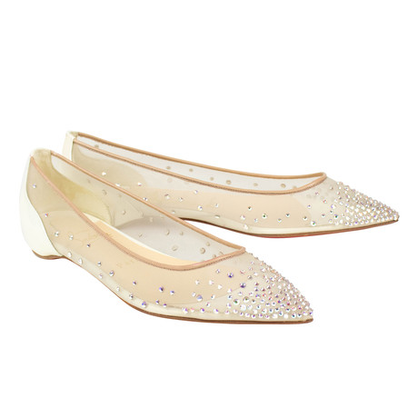 Women's // Follies Strass / Flats // Beige (Euro: 40)