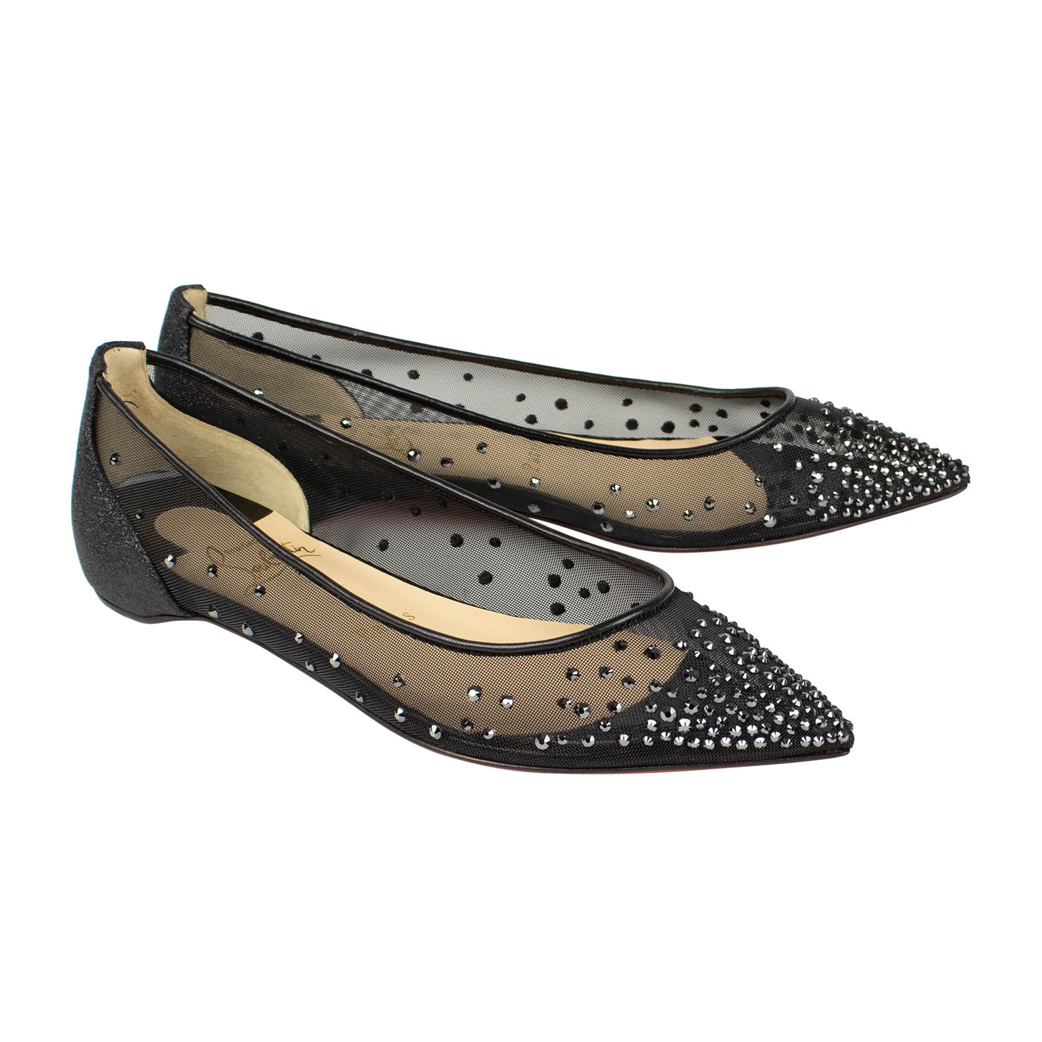fd1fb51c1d0 Women's // Follies Strass Flats // Black (Euro: 35.5) - Christian ...