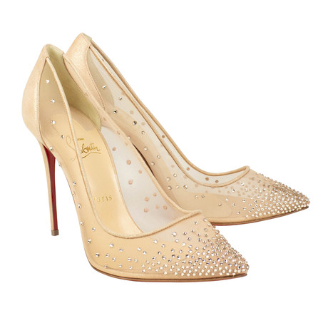 Women's // Follies Strass 120mm Heels // Beige (Euro: 40)