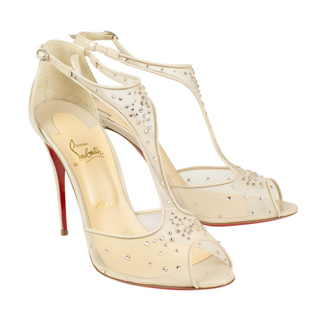 Women's Patinana Strass Sandals Heels // Beige (Euro: 36)