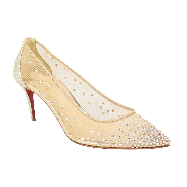 pretty nice b7c01 dfdd9 Women's // Follies Strass 70mm Sparkly Heels // Beige (Euro ...