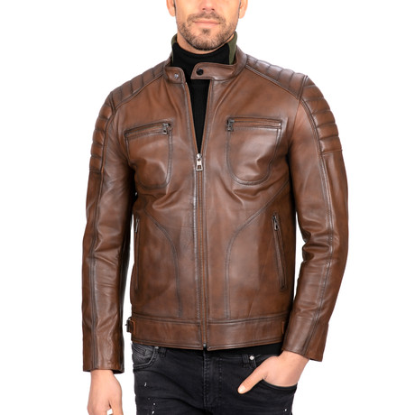Classic Leather Jacket // Chestnut (S)