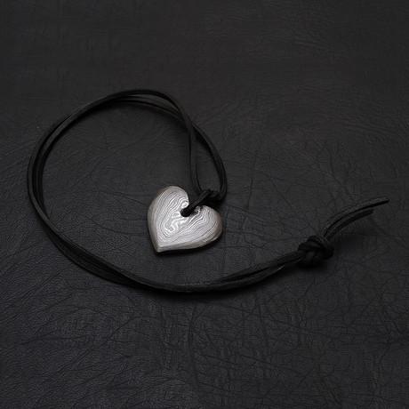 Damascus Heart Pendant // 1966