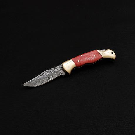 Damascus Pocket/Folding Knife // 2369