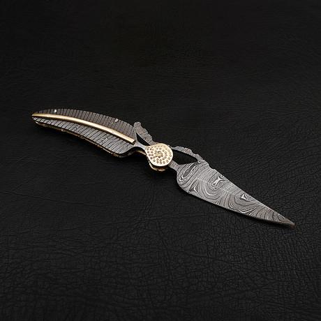 Damascus Folding Knife // 2698