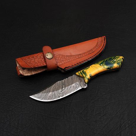 Damascus Skinner Knife // HK0215