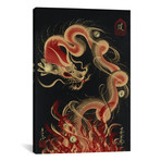 "Protective Fire Dragon // One-Stroke Dragon (12""W x 18""H x 0.75""D)"