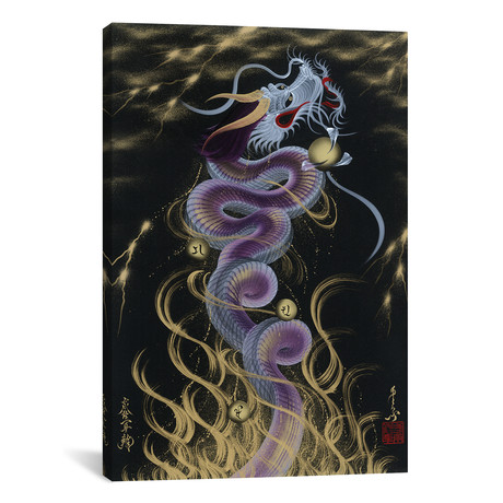"Thunder Purple Dragon (26""W x 18""H x 0.75""D)"