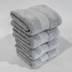 Alfred Sung Hotel Collection // Hand Towel // Set of 4 (Silver Sconce)