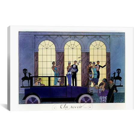 "Farewell // engraved by Henri Reidel // 1920 (litho) // George Barbier (18""W x 26""H x 0.75""D)"