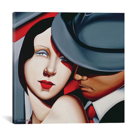 "Adam & Eve, Gangster Study // Catherine Abel (12""W x 12""H x 0.75""D)"