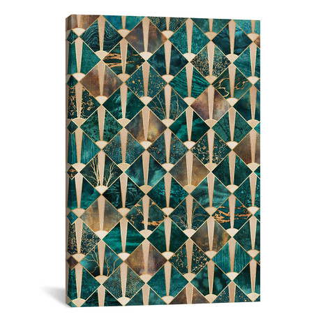 "Art Deco Tiles I // Elisabeth Fredriksson (26""W x 40""H x 1.5""D)"