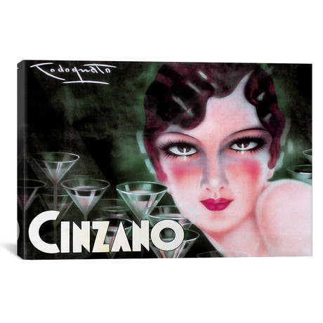 "Cinzano // Vintage Apple Collection (18""W x 26""H x 0.75""D)"