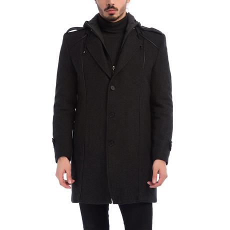 PLT8334 Overcoat // Patterned Black (M)