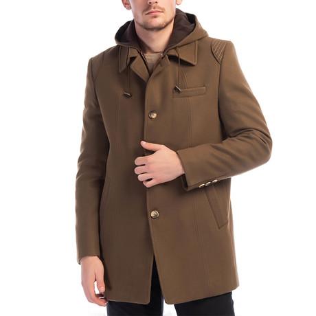 PLT8335 Overcoat // Camel (M)