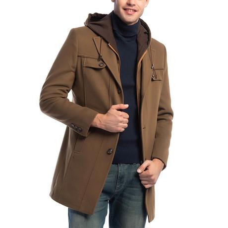 PLT8338 Overcoat // Camel (M)