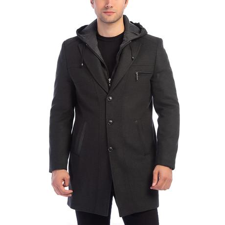 PLT8354 Slim-Fit Overcoat // Anthracite (M)