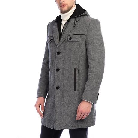 PLT8338 Overcoat // Patterned Grey (M)