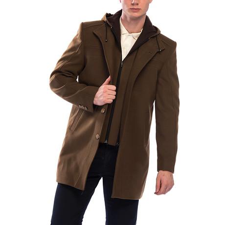 PLT8360 Overcoat // Camel (M)