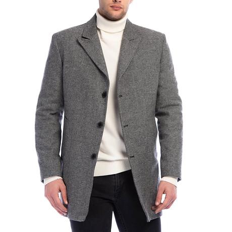 PLT8361 Overcoat // Patterned Grey (M)