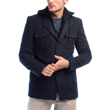 K7536 Overcoat // Dark Blue (M)
