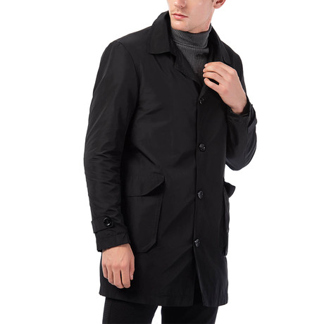 Maxwell Raincoat // Black (Small)