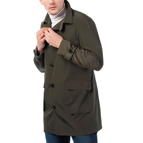 Maxwell Raincoat // Khaki (Small)