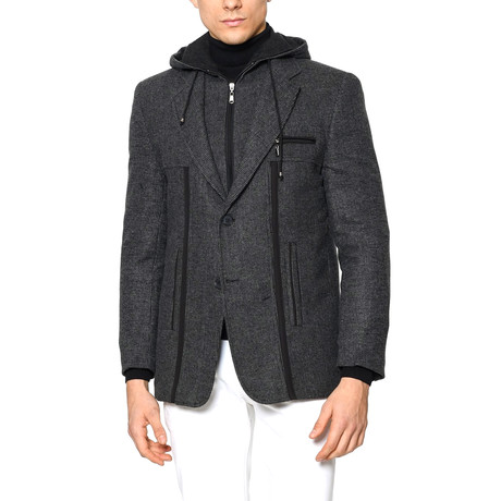 K7534 Overcoat // Patterned Anthracite (M)