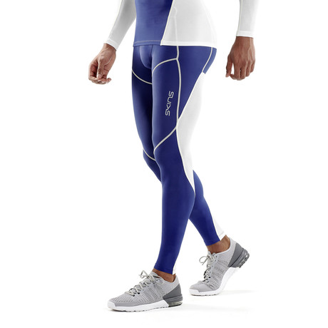 COOLING Compression Long Tights // White Zephyr (Small)