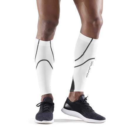 Running Compression Calf Tights // White (Small)