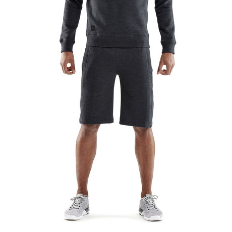 Linear Tech Fleece 7 Inch Shorts // Charcoal Marle (Small)