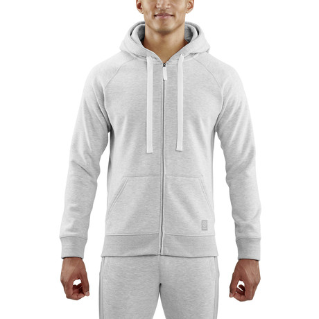 Linear Tech Fleece Hoodie // Silver Marle (Small)