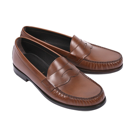 Norfolk Slip-On Leather Loafers // Brown (US: 6)