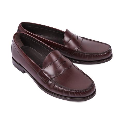 Norfolk Slip-On Leather Loafers // Burgundy (US: 6)