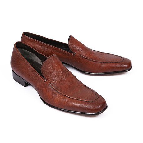 Slip-On Leather Loafers // Brown (US: 6)