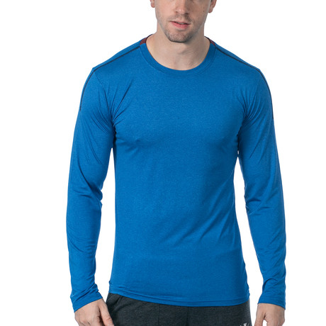 Everyday Long-Sleeve Fitness Tech T // Blue (XS)