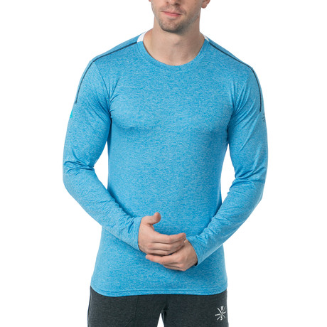 Everyday Long-Sleeve Fitness Tech T // Light Blue (XS)