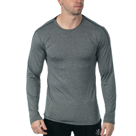 Everyday Long-Sleeve Fitness Tech T // Grey (XS)