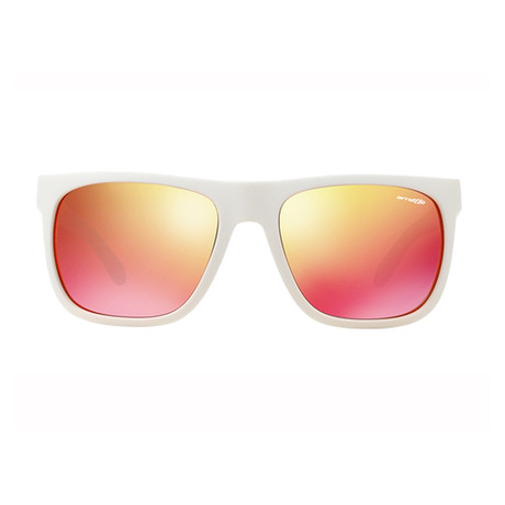 Arnette // Fire Drill Sunglasses // White + Red Mirror