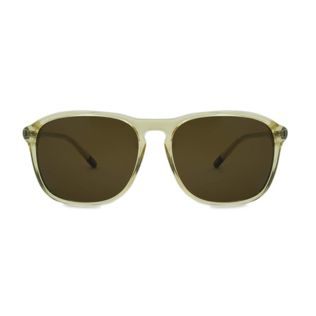 Gant // Rectangle Sunglasses // Crystal Amber + Brown