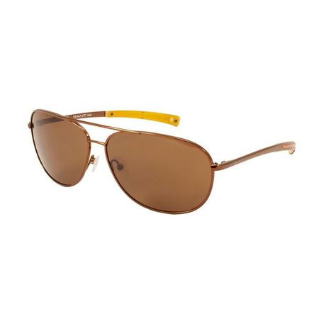Gant Sun // Aviator Sunglasses // Brown