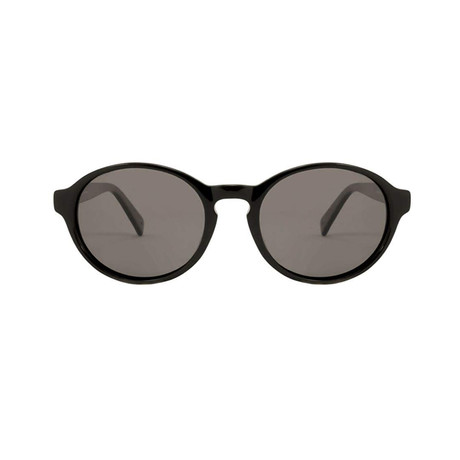 Gant // Round Polarized Sunglasses // Black + Gray