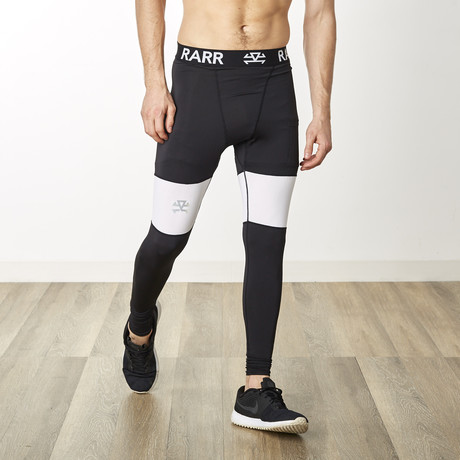 TechSkin Cross Panel Compression Tights // Black (XS)