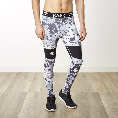 TechSkin Cross Panel Compression Tights // Urban Camo (XS)