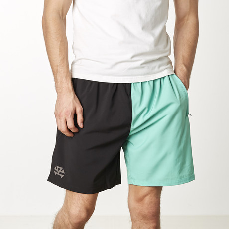 UltraLight Training Shorts // Green + Black (XS)