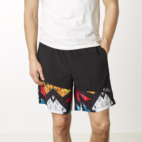 Asymetric Training Shorts // Printed Multicolor (XS)