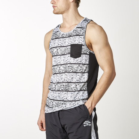 Streamlined Stripe Tank // Printed (XS)